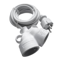 PIÈCE MATÉRIEL ÉLECTR. Prolongateur Bi tête 3G1.5 mm blanc 5m - 1 prise M