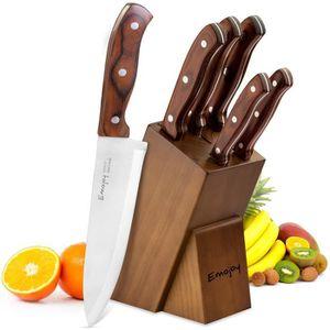 COUTEAU DE CUISINE  Emojoy Lot de Couteaux, 6 Pièces Set Couteaux, Cou