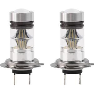 PHARES - OPTIQUES 2X H7 Ampoule 100W 20 LED XENON FEUX PHARE Brouill