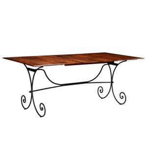 TABLE À MANGER SEULE Table de salle à manger Bois et finition en Sesham