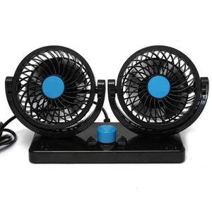 VENTILATEUR D'APPOINT 360 ° rotatif double lame 2 24V DC Fan avec cordon