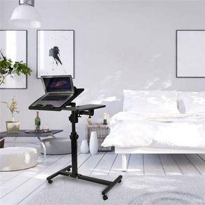 MEUBLE INFORMATIQUE Table d'ordinateur portable hauteur ajustable plia