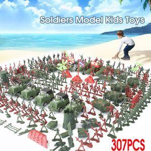 FIGURINE - PERSONNAGE AVANC SET 307pcs Armée Soldats Tank Modèle Miniatu