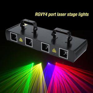 LAMPE ET SPOT DE SCÈNE 30W 4 Lens lampe de scène de laser 7CH DMX512 pour