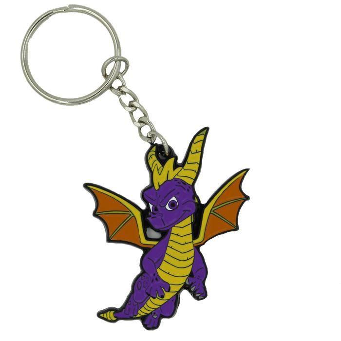 Porte-clés en métal Spyro