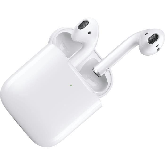 APPLE Écouteurs AirPods 2 - Avec étui de charge - Sans fil