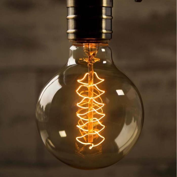 Vintage Incandescence Globe 40w Énergétique Filament À Lampe Ampoules E27 A classe a0528 Htesnt 220v G80 Edison twqvX0B