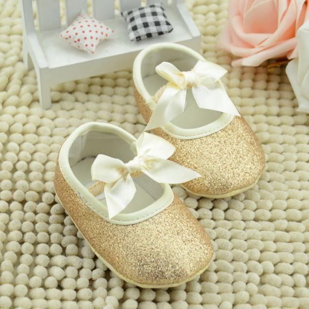""""""" Chaussures Glitter bébé espadrille anti-dérapant souple Sole Toddler"""""""
