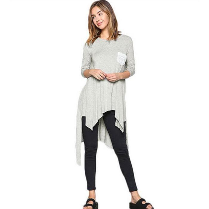 SIMPLE FLAVOR Robe Femme Manche Longue Avec Une Poche Mode