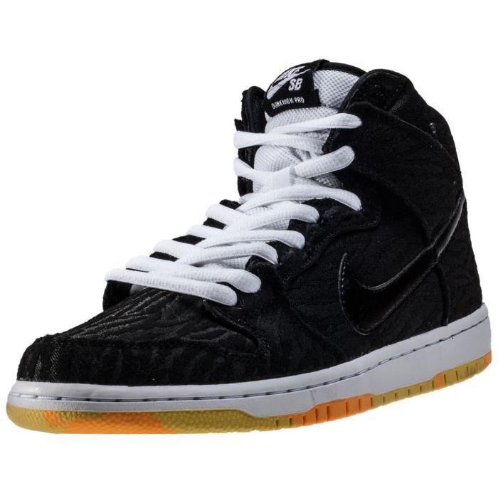 meilleure sélection 24d96 742fd Nike SB Dunk High Pro Homme Baskets Orange Noire Noir Orange ...