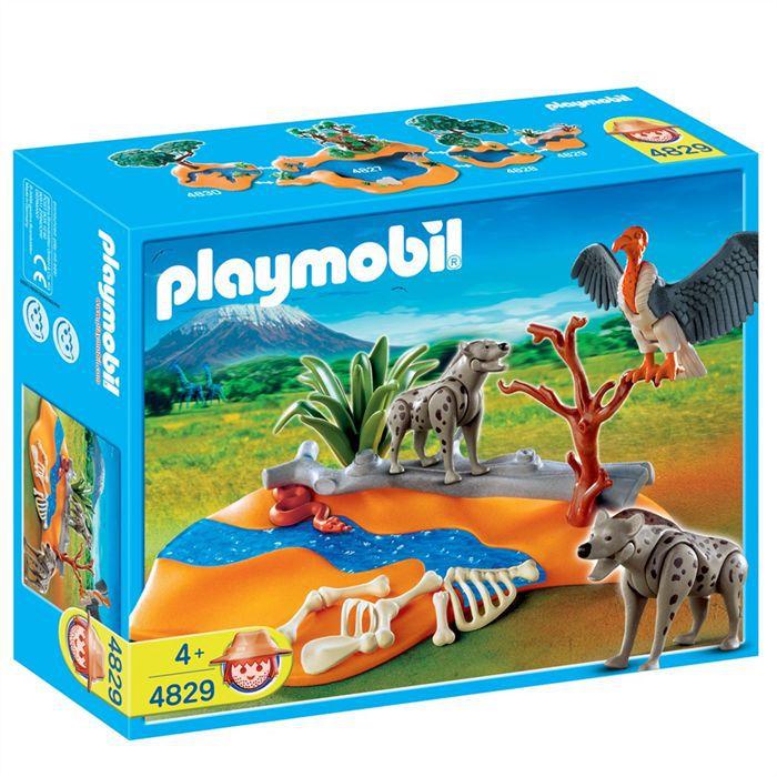 Playmobil couple de hy nes et vautour achat vente univers miniature cdiscount - Playmobile savane ...
