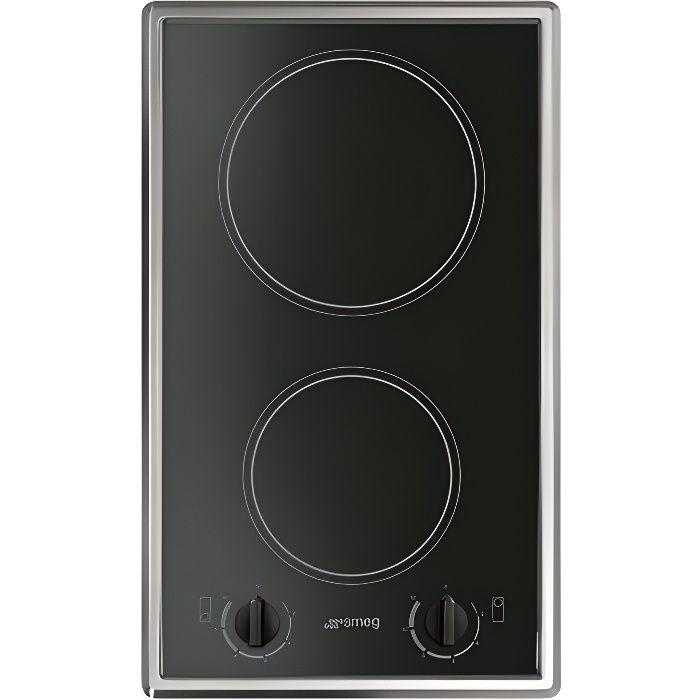 smeg domino vitroc ramique s232cx noir inox table electrom nager. Black Bedroom Furniture Sets. Home Design Ideas