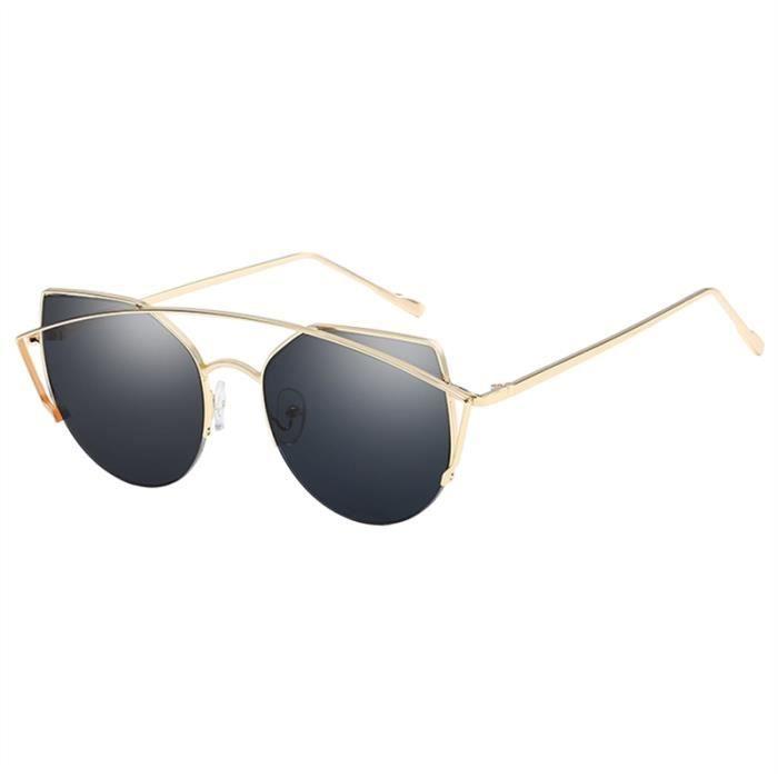 Hommes Femmes Trendy Lunettes de soleil monture en métal avec protection UV