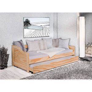 lit 1 place gigogne achat vente pas cher. Black Bedroom Furniture Sets. Home Design Ideas