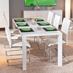Table salle a manger extensible laque blanc achat for Salle a manger ottawa