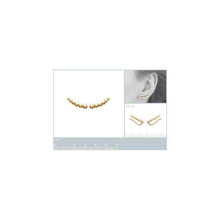 Isady - Carey Gold - Boucles doreilles - Plaqué or jaune 18K - Clous doreilles
