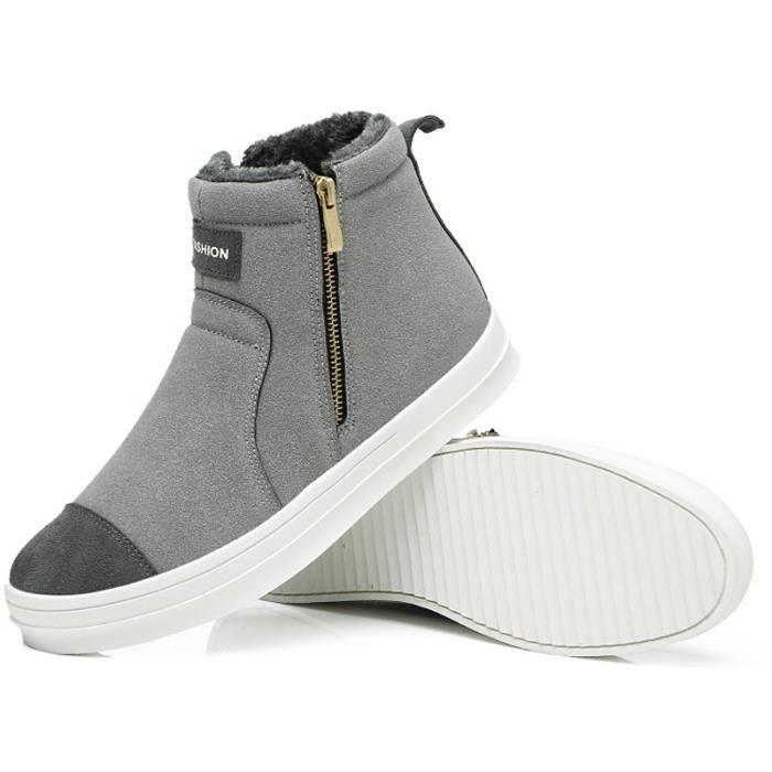 Chaussures neige hommes air chaude Bottes Sports antidérapantes de Fourrure et plein wtPq87B