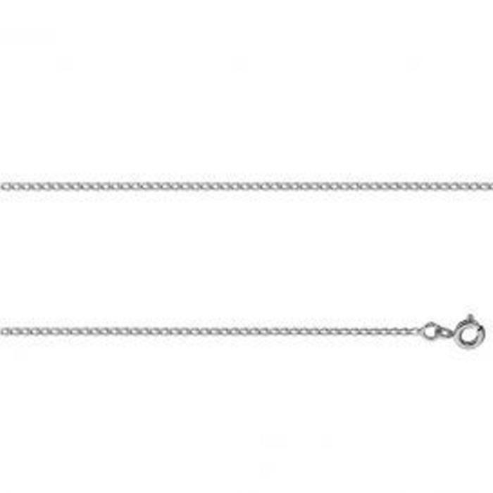 Collier Avec Maille Gourmette En Or Gris - 60cm 3.75g 375 ‰