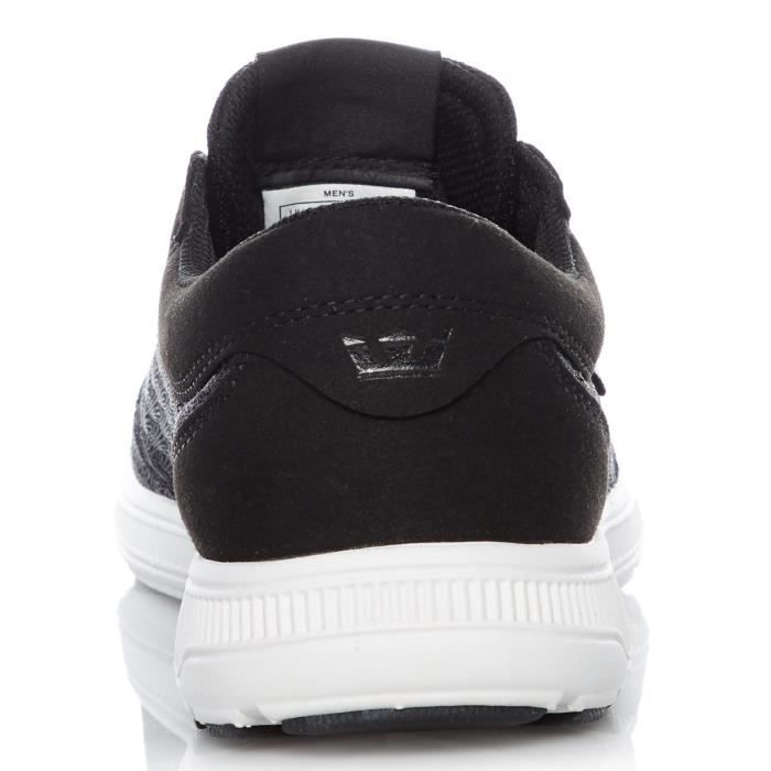 Chaussure Supra Hammer Run Noir-Light Gris-Blanc
