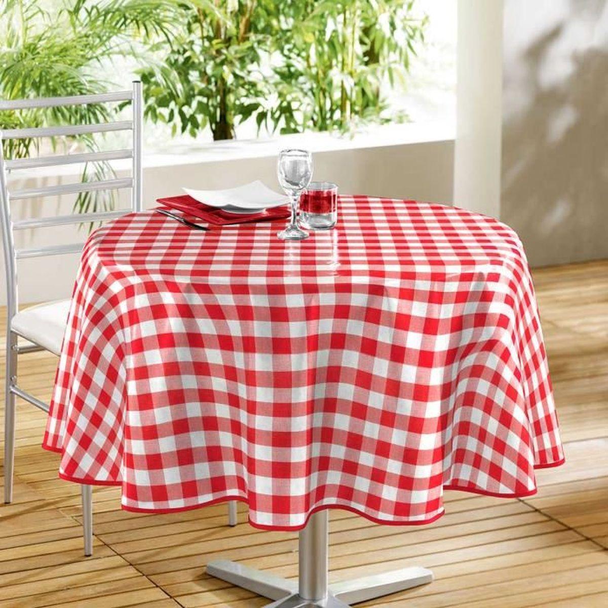 Nappe rouge pas cher fashion designs - Nappe de table ronde ...
