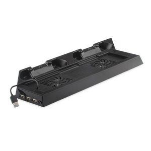 VENTILATEUR CONSOLE Support + ventilateur (Noir)pour PS4
