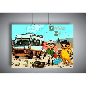 AFFICHE - POSTER Poster BREAKING BAD cartoon  - A3 (42x29,7cm)