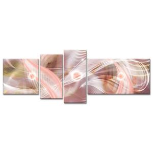 TABLEAU - TOILE Tableau Déco Design Abstrait Ondulations - 160x60