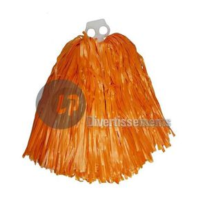 ACCESSOIRE DÉGUISEMENT Paire de pompons à anneaux orange