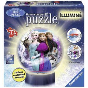 PUZZLE LA REINE DES NEIGES Puzzle 3D Illuminé 72 pcs - Di