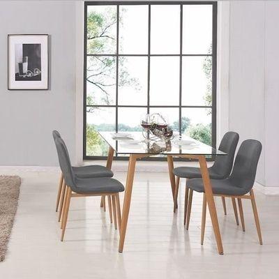 table À manger en verre + 4 chaises scandinave loa - achat / vente