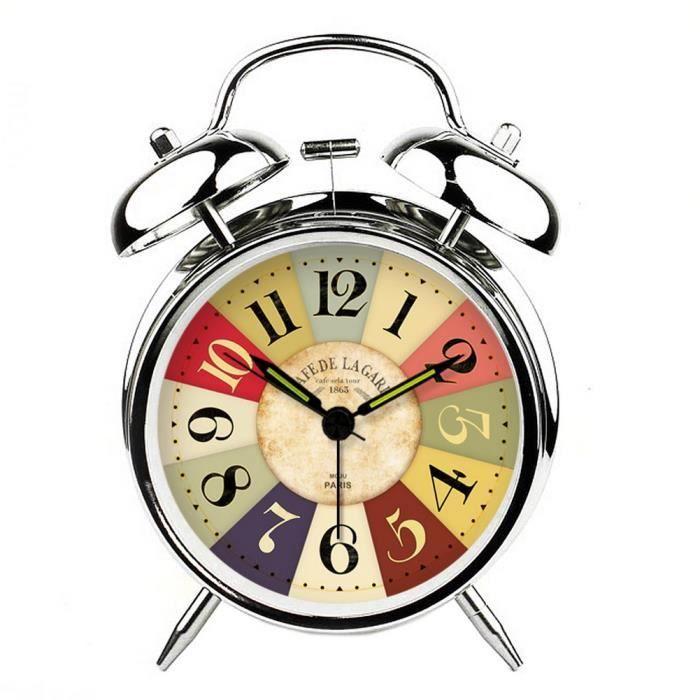 r veil classique horloges d coratives cr atives horloge de chevet m canique argent achat
