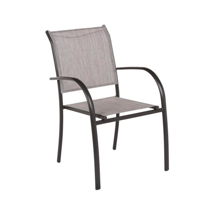 FAUTEUIL EMPILABLE PIAZZA HESPERIDE TAUPE CHINE - Achat / Vente ...