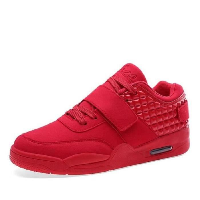 Hommes chaussures haut Top Casual rouge Suede c...