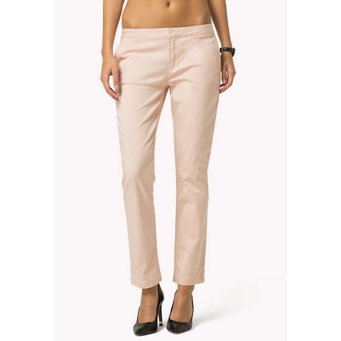 0df7246326a18 SILVANA T8 SKINNY CHINO TOMMY HILFIGER Rose poudre - Achat   Vente ...