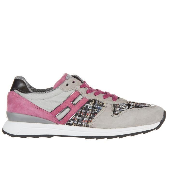 Chaussures baskets sneakers enfant filles camoscio r261 Hogan Rebel