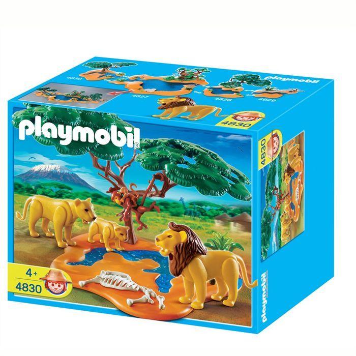 Playmobil famille de lions avec singes achat vente univers miniature cdiscount - Playmobile savane ...