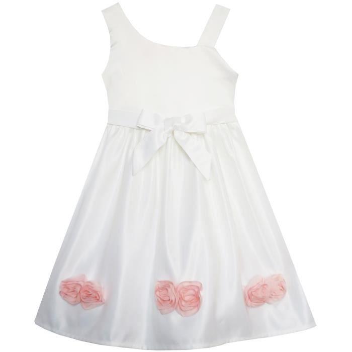 Ans Robe 6 2 Asymétrique Partie Sunny Fashion Épaule Une Fleur Fille v5wqwxzC