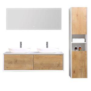meuble de salle de bain double vasque avec colonne Résultat Supérieur 16 Luxe Meuble Double Vasque Bois Salle De Bain Galerie 2018 Iqt4