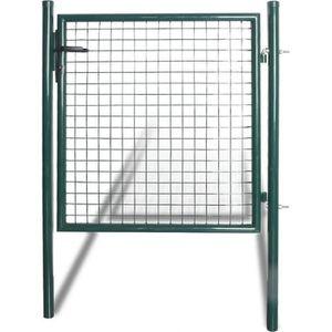 CLÔTURE - GRILLAGE vidaXL Portail pour clôture en acier laqué