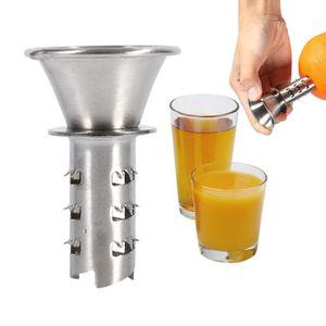 PRESSE-FRUIT - LEGUME MANUEL Foreuse citron presse-fruits manuel en acier inoxy