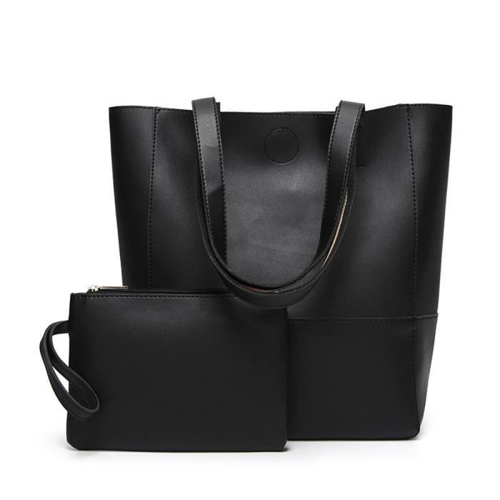 1b09615b9bbc0 Grand sac a main bandouliere noir - Achat / Vente pas cher