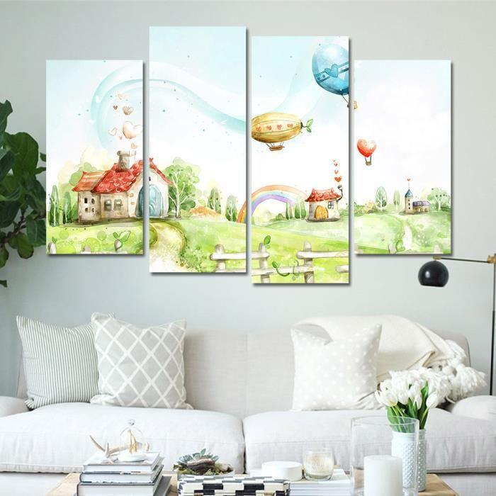Toile Peinture Mur Dcoration Mur De Dessin Anim Photos Pour