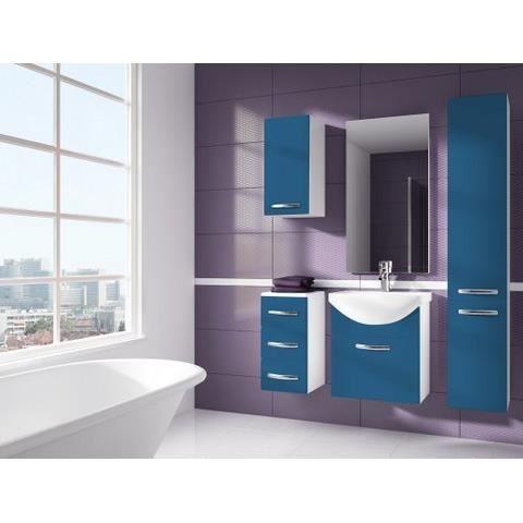 iris bleu salle de bain 1m20 6 elements achat vente salle de bain complete iris bleu salle. Black Bedroom Furniture Sets. Home Design Ideas
