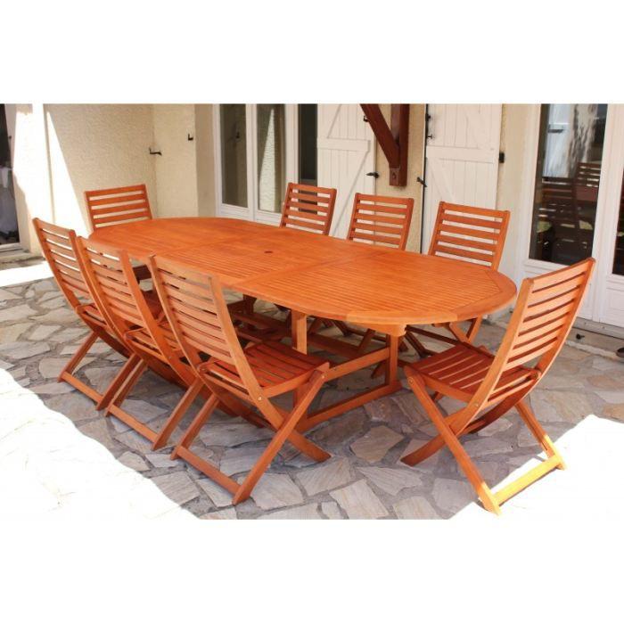 Salon de jardin Hanoi en bois exotique - Achat / Vente salon de ...