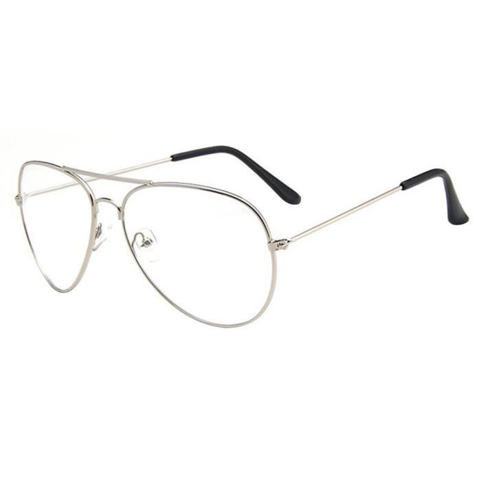 7e633347b15 Lunettes de Vue Montures de lunettes Rétro Modèle Aviateur - Achat ...