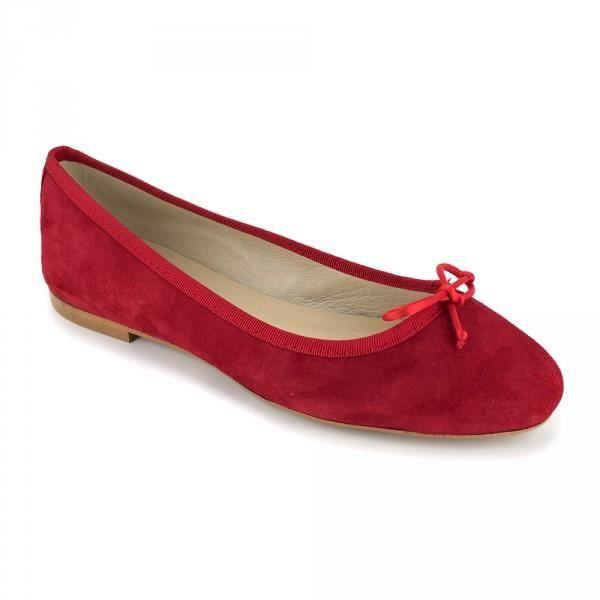 Ballerine Loca Lova Cuir Rouge LL225 - Couleur - Rouge