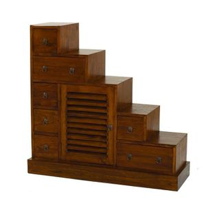 MEUBLE ÉTAGÈRE LOLA Meuble escalier en bois massif - L 105 cm