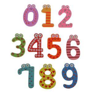 AIMANTS - MAGNETS MOBILE 10pcs Multicolore Bois Nombre Aimants 0-9 R