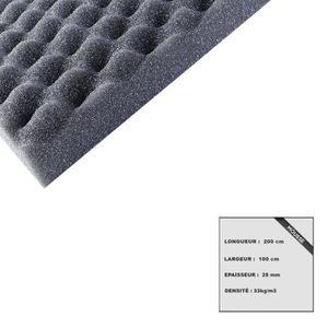 MATELAS Mousse à picot standard polyuréthane 200x100 cm ép