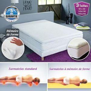 SUR-MATELAS Surmatelas à mémoire de forme confort Luxe 140 ...